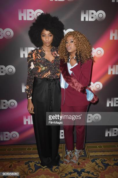 Actors Jessica Williams and Phoebe Robinson attends HBO Winter TCA 2018 on January 11 2018 in Pasadena California