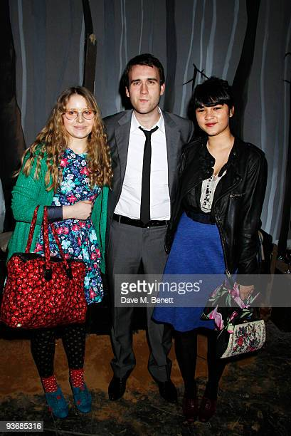 Actors Jessie Cave and Matthew Lewis and guest attend the Where The Wild Things Are after party at the Old Sorting Office on December 22009 in...