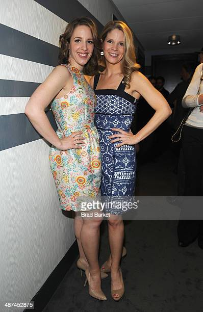 Actors Jessie Mueller and Kelli O'Hara attend the 2014 Tony Awards Meet The Nominees Press Reception at the Paramount Hotel on April 30 2014 in New...