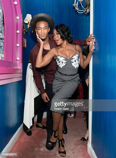 Actors Jessie T Usher and Tichina Arnold attend Survivor's Remorse New York screening after party at Roxy Hotel on July 12 2016 in New York City