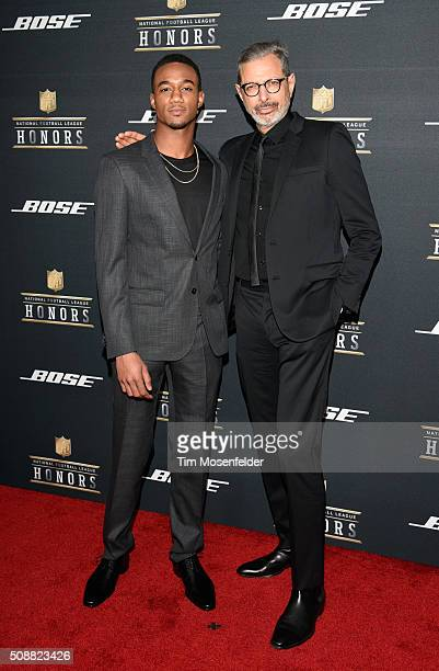 Actors Jessie Usher and Jeff Goldblum attend the 5th Annual NFL Honors at Bill Graham Civic Auditorium on February 6 2016 in San Francisco California