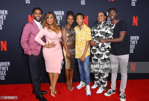 Actors Jharell Jerome, Niecy Nash, Marsha Stephanie Blake, Asante Blackk, Aunjanue Ellis and Ethan Herisse attend FYC Event For Netflix's 'When They...
