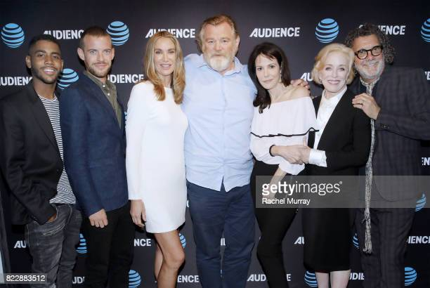 Actors Jharrel Jerome Harry Treadaway Kelly Lynch Brendan Gleeson MaryLouise Parker Holland Taylor and director / producer Jack Bender attend the ATT...