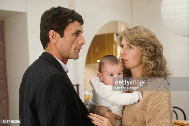 Actors Jill Clayburgh and Mohammed Bakri on the set of the film Hanna K directed by CostaGavras