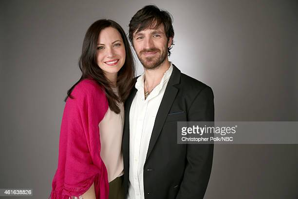 Actors Jill Flint and Eoin Macken of 'The Night Shift' pose for a portrait during the NBCUniversal TCA Press Tour at The Langham Huntington Pasadena...
