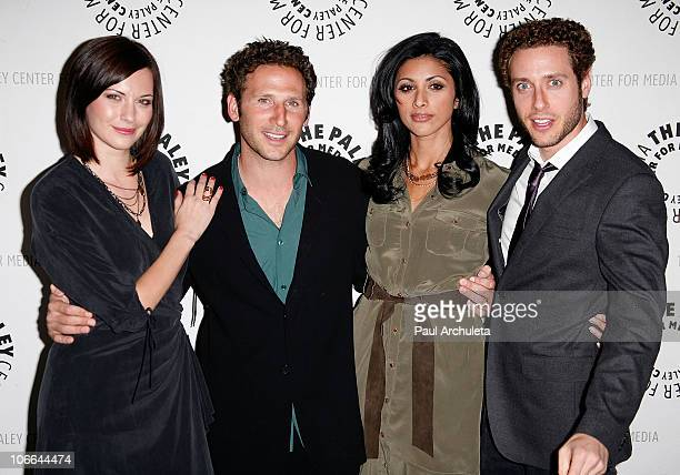 Actors Jill Flint Mark Feuerstein Reshma Shetty and Paulo Costanzo attend the presention of 'Royal Pains' at The Paley Center for Media on November 8...