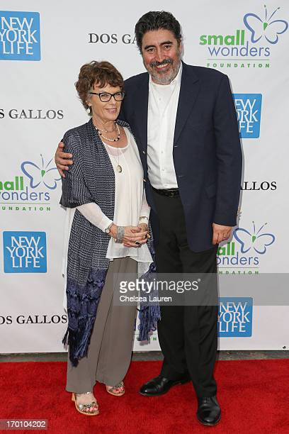 Actors Jill Gascoine and husband Alfred Molina attend A Night of Wonders at Dos Gallos Antiques on June 6 2013 in Los Angeles California