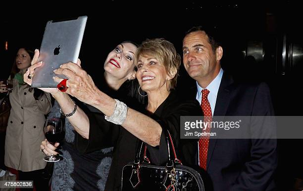 Actors Jill Kargman Joanna Cassidy and Andy Buckley attend the Bravo Presents a special screening of Odd Mom Out after party at Casa Lever on June 3...