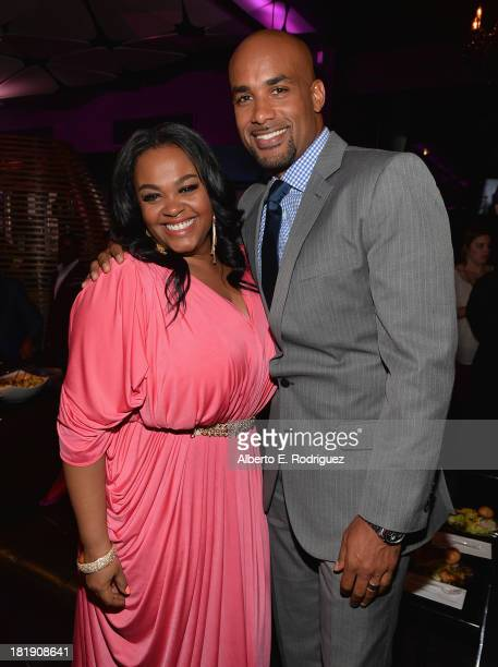 Actors Jill Scott and Boris Kodjoe attend the after party for the premiere of Fox Searchlight Pictures' Baggage Claim at the Conga Room on September...