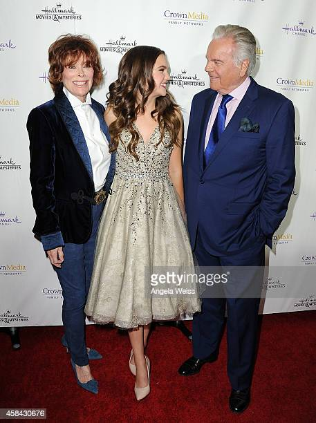 """Actors Jill St. John, Bailee Madison and Robert Wagner arrive at Hallmark Channel's annual holiday event premiere screening of """"Northpole"""" at La..."""