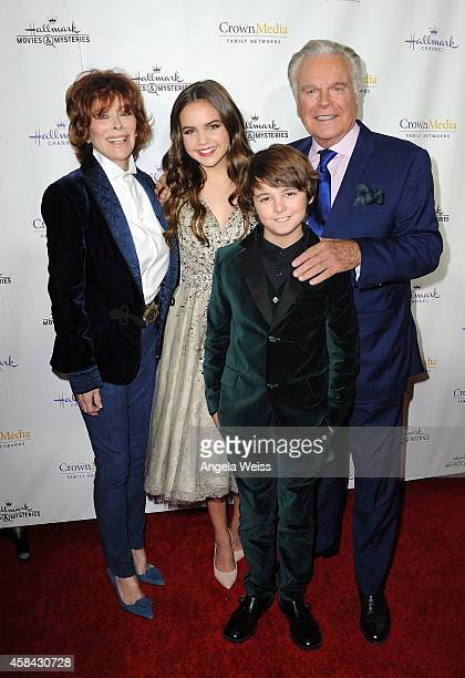 Actors Jill St John Bailee Madison Max Charles and Robert Wagner arrive at Hallmark Channel's annual holiday event premiere screening of 'Northpole'...