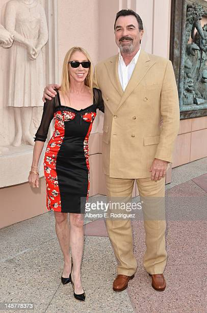 """Actors Jillie Mack and Tom Selleck arrive to a screening and panel discussion of CBS's """"Blue Bloods"""" at Leonard H. Goldenson Theatre on June 5, 2012..."""
