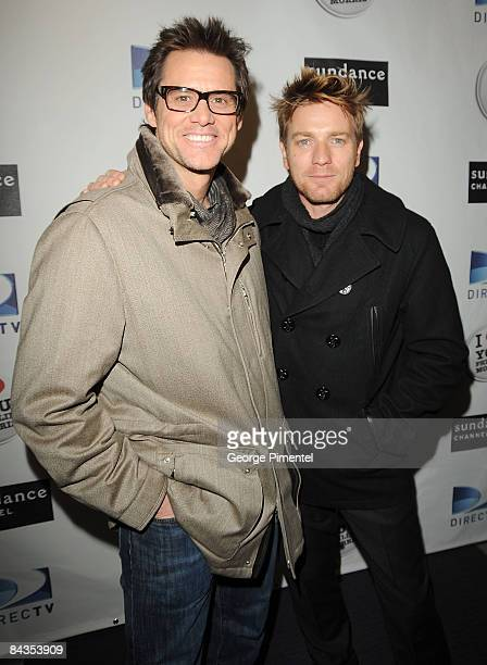 "Actors Jim Carey and Ewan McGregor attend the ""I Love Phillip Morris"" dinner during the 2009 Sundance Film Festival at the Eccles Theatre on January..."