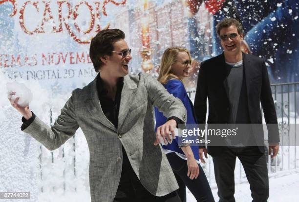 Actors Jim Carrey Robin Wright Penn and Colin Firth attend the 'A Christmas Carol' Photocall during the 62nd International Cannes Film Festival on...