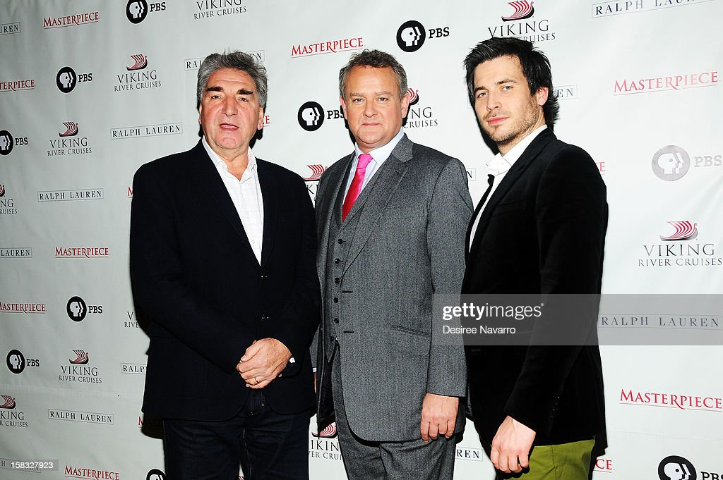 Actors Jim Carter, Hugh Bonneville and Rob James-Collier attend the 'Downton Abbey' Season 3 Photo Call at the Essex House on December 12, 2012 in New York City.