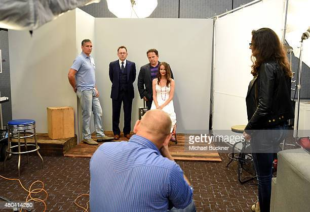 Actors Jim Caviezel Michael Emerson Kevin Chapman and Amy Acker of 'Person of Interest' attend the Getty Images Portrait Studio Powered By Samsung...