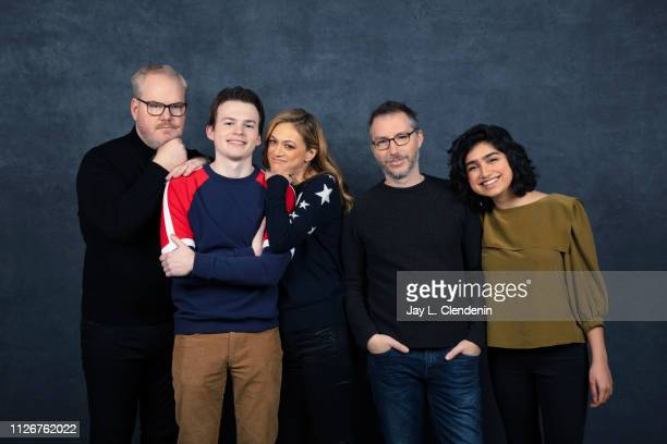 Actors Jim Gaffigan Josh Wiggins Marin Ireland writer/director Paul Harrill and Atheena Frizzell from 'Light from Light' are photographed for Los...