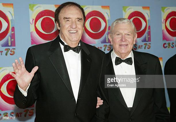 Actors Jim Nabors and Andy Griffith attend CBS at 75 television gala at the Hammerstein Ballroom November 02 2003 in New York City