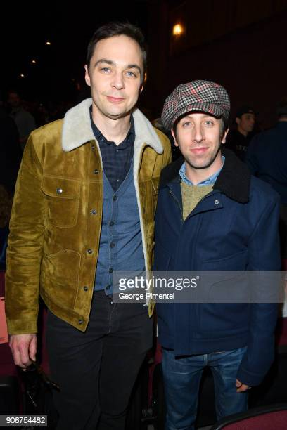 Actors Jim Parsons and Simon Helberg attend the Blindspotting Premiere during the 2018 Sundance Film Festival at Eccles Center Theatre on January 18...