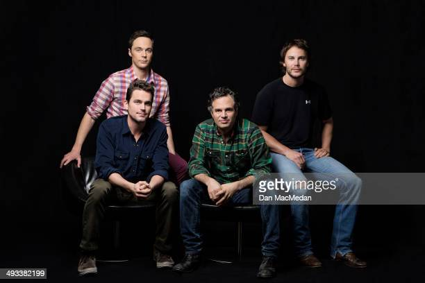 Actors Jim Parsons Matt Bomer Taylor Kitsch and Mark Ruffalo are photographed for USA Today on March 4 2014 in Hollywood California