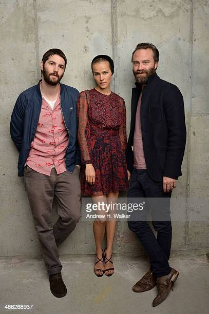 Actors Jim Sturgess Isabel Lucas and director/ screenwriter Tristan Patterson from 'Electric Slide' pose for the Tribeca Film Festival Getty Images...