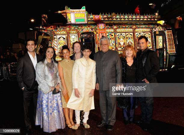 Actors Jimi Mistry Ila Arun Zita Sattar Linda Bassett Aqib Khan Om Puri Lesley Nicol and Emil Marwa attend the West Is West premiere during the 54th...