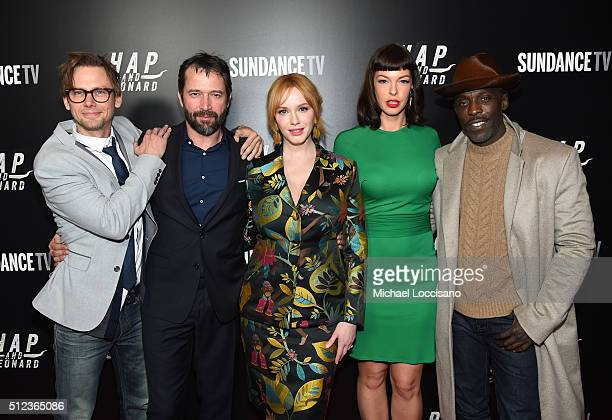 Actors Jimmi Simpson James Purefoy Christina Hendricks Pollyanna McIntosh and Michael Kenneth Williams attend SundanceTV's 'Hap and Leonard' Premiere...