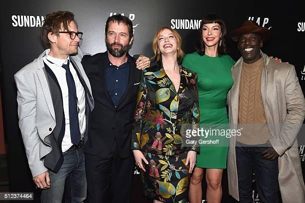 Actors Jimmi Simpson James Purefoy Christina Hendricks Pollyanna McIntosh and Michael Kenneth Williams attend the Hap and Leonard New York screening...