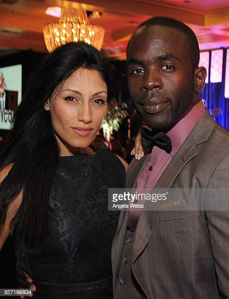 Actors Jimmy Akingbola and Tehmina Sunny attends BritWeek's 10th Anniversary VIP Reception Gala at Fairmont Hotel on May 1 2016 in Los Angeles...