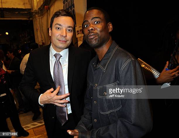 Actors Jimmy Fallon and Chris Rock attend the 2009 VH1 Hip Hop Honors at the Brooklyn Academy of Music on September 23 2009 in the Brooklyn borough...