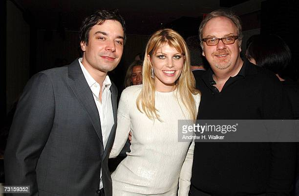 Actors Jimmy Fallon and Meredith Ostrom with director George Hickenlooper attend a dinner for Factory Girl hosted by The Cinema Society and Calvin...