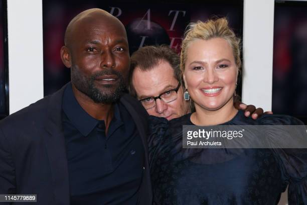 Actors Jimmy JeanLouis Jack Coleman and Kathleen McClellan attend the Los Angeles Special Screening Of Rattlesnakes at Downtown Independent on April...