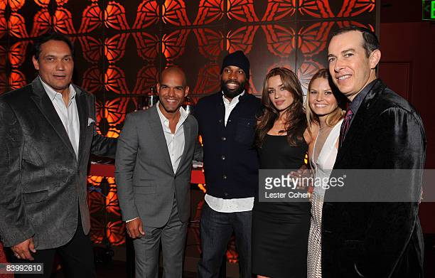 Actors Jimmy Smits Amaury Nolasco NBA player Baron Davis actresses Rebecca Marshall and Jennifer Morrison and President and CEO of The Conga Room...