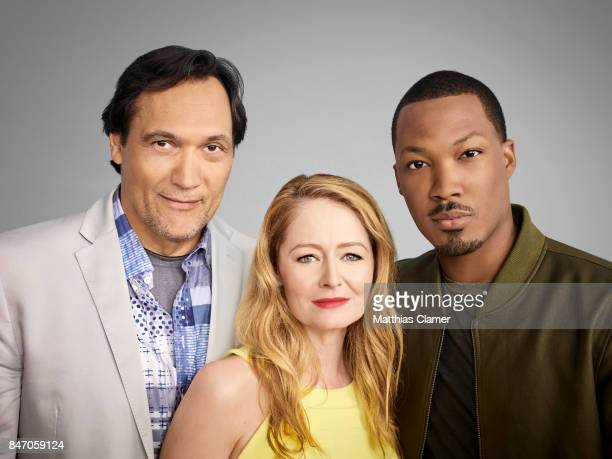 Actors Jimmy Smits Miranda Otto and Corey Hawkins from '24 Legacy' is photographed for Entertainment Weekly Magazine on July 23 2016 at Comic Con in...