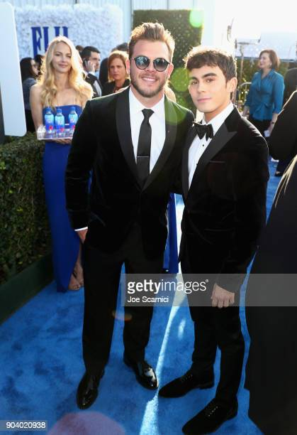 Actors Jimmy Tatro and Tyler Alvarez attend the 23rd Annual Critics' Choice Awards on January 11 2018 in Santa Monica California