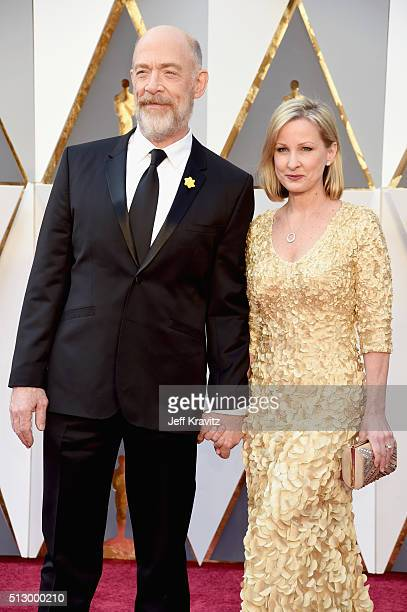 Actors JK Simmons and Michelle Schumacher attend the 88th Annual Academy Awards at Hollywood Highland Center on February 28 2016 in Hollywood...
