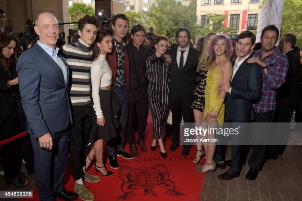 Actors J.K. Simmons, Timothée Chalamet, Katherine C. Hughes, Ansel Elgort, Will Peltz, Kaitlyn Dever, Director/Co-Writer/Producer Jason Reitman,...