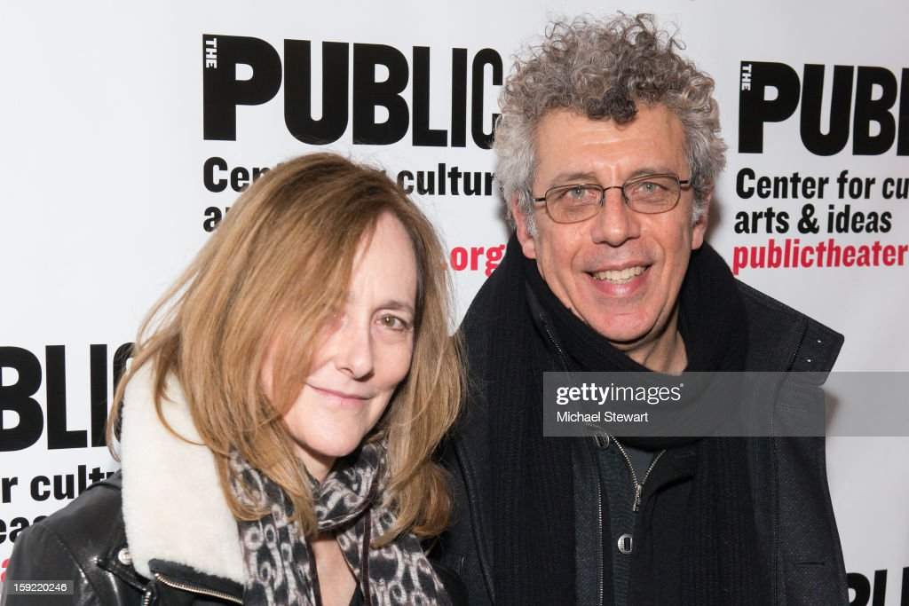 Actors Jo Bonney (L) and Eric Bogosian attends the Under The Radar Festival 2013 Opening Night Celebration at The Public Theater on January 9, 2013 in New York City.