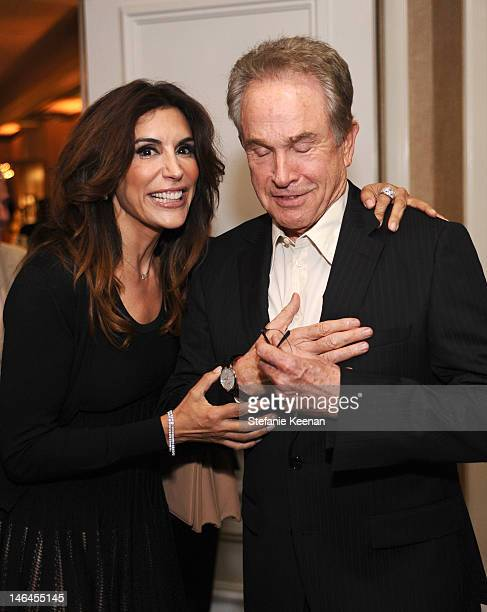 Actors Jo Champa and Warren Beatty attend the 100th anniversary celebration of the Beverly Hills Hotel Bungalows supporting the Motion Picture...