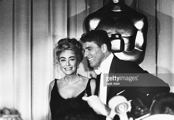 Actors Joan Crawford and Burt Lancaster at the 34th Academy Awards Los Angeles April 9th 1962