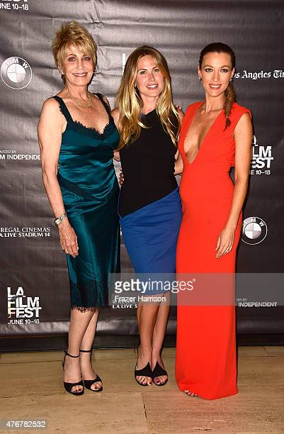 Actors Joanna Cassidy Vail Bloom Natalie Zea arrives at the 2015 Los Angeles Film Festival Too Late Premiere at LACMA on June 11 2015 in Los Angeles...