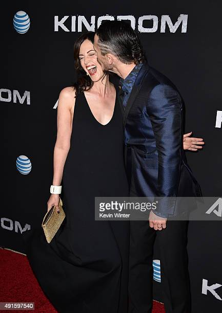 Actors Joanna Going and Jonathan Tucker attend the premiere of DIRECTV's Kingdom Season 2 at SilverScreen Theater at the Pacific Design Center on...