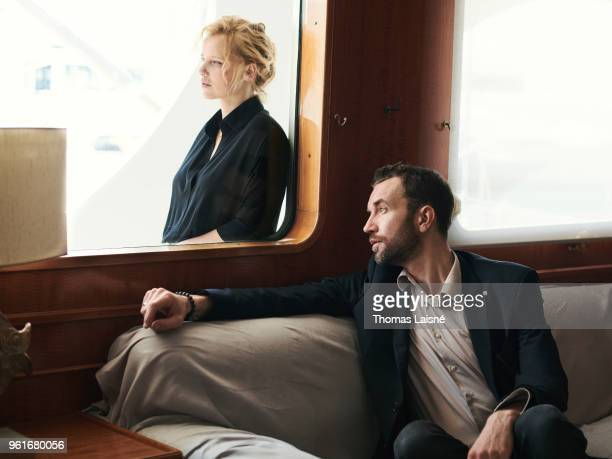 Actors Joanna Kulig & Tomasz Kot are photographed on May 10, 2018 in Cannes, France. .