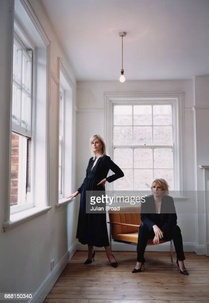 Actors Joanna Lumley Jennifer Saunders are photographed in London England