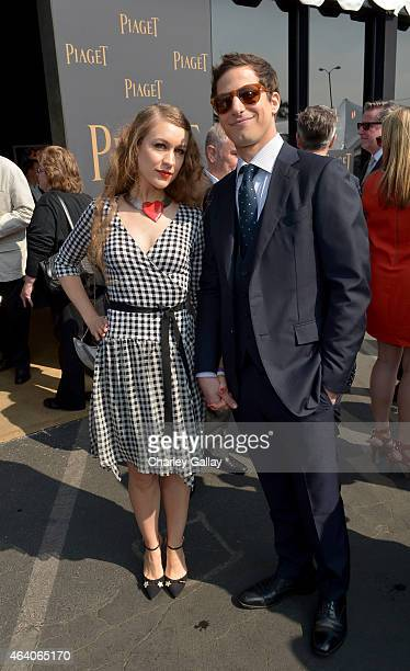 Actors Joanna Newsom and Andy Samberg attend the 30th Annual Film Independent Spirit Awards at Santa Monica Beach on February 21 2015 in Santa Monica...