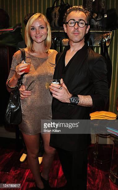 Actors Joanna Vanderham and Alan Cumming attend the Jay Kos opening on September 12 2011 in New York City