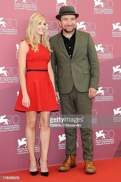 Actors Joanne Froggatt and Eddie Marsan attend Still Life Photocall during the 70th Venice International Film Festival at Palazzo del Casino on...