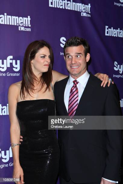 Actors Joanne Kelley and Eddie McClintock arrive at the 2010 Comic-Con Celebration Hosted By Entertainment Weekly and Syfy at Hotel Solamar on July...