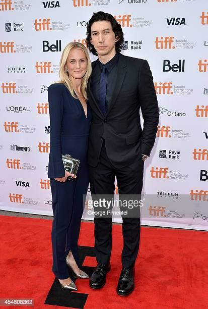 Actors Joanne Tucker and Adam Driver attend the While We're Young premiere during the 2014 Toronto International Film Festival at Princess of Wales...