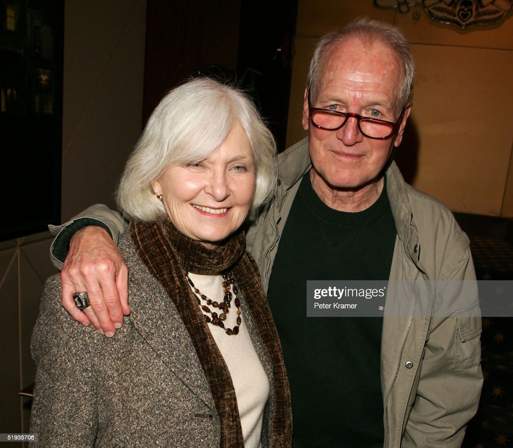 Actors Joanne Woodward and Paul Newman attend a reception for a special screening of 'The Woodsman' on January 10, 2004 in New York City.